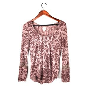 intimately free people thermal floral sleeve lace